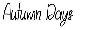 Autumn Days font