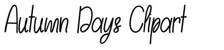 Autumn Days Clipart font