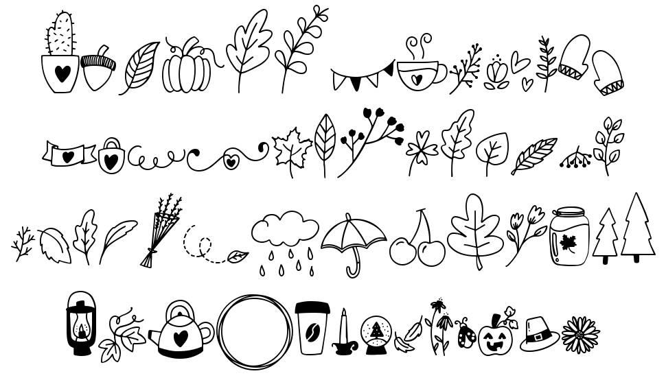 Autumn Dingbats font