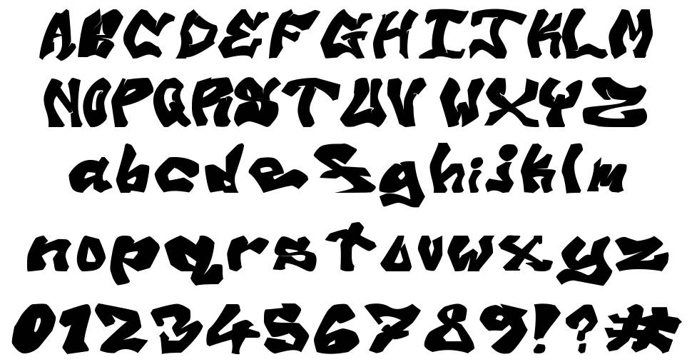 Avalon Old Skool Graff font