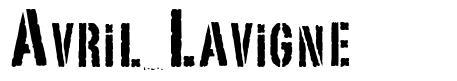 Avril Lavigne font