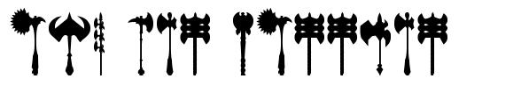 Axe for warrior font