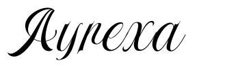 Ayrexa フォント