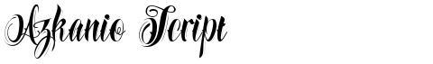 Azkanio Script