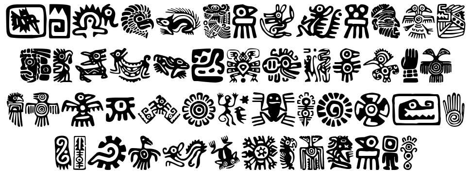 Aztecs Icons font