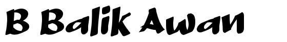 B Balik Awan 字形