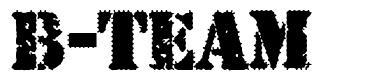 B-Team písmo