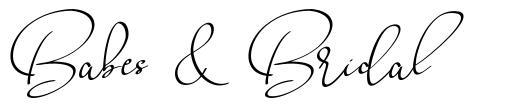 Babes & Bridal шрифт