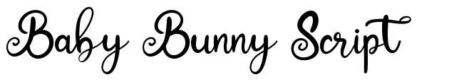 Baby Bunny Script