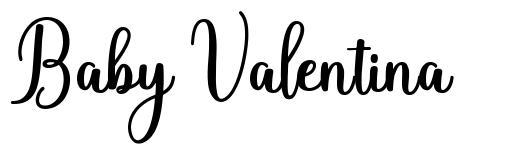 Baby Valentina font