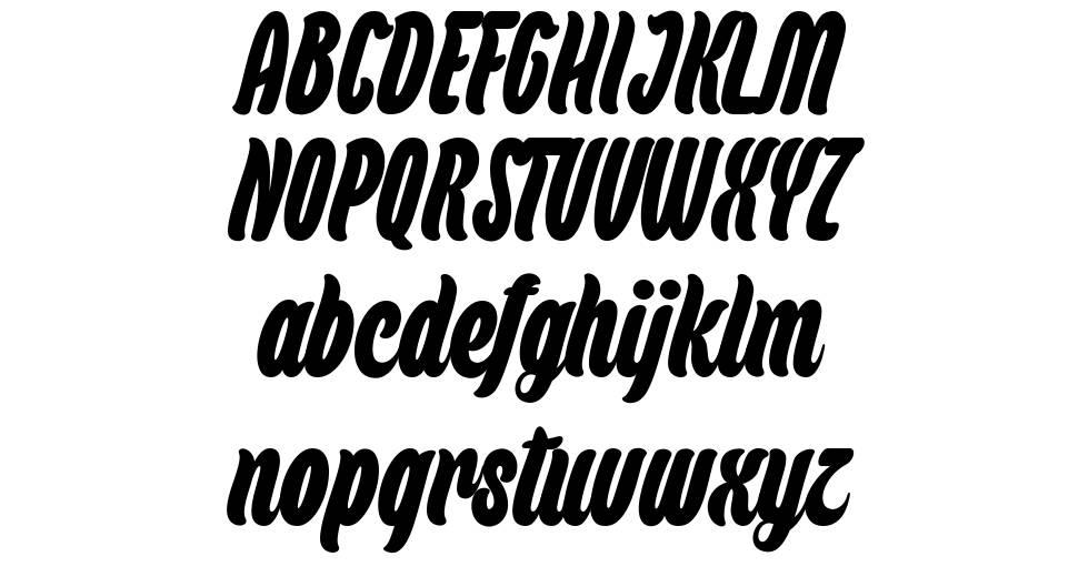 Backpack font