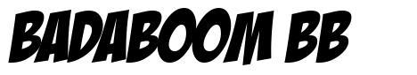 Badaboom BB 字形