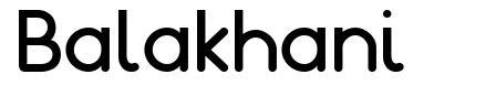 Balakhani шрифт