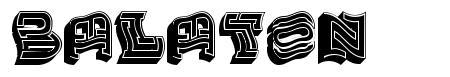 Balaton font