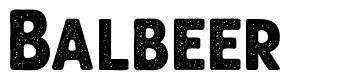 Balbeer font
