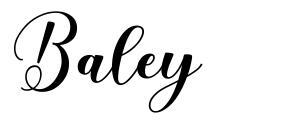 Baley font