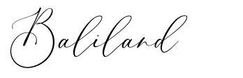Baliland písmo