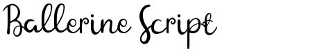Ballerine Script