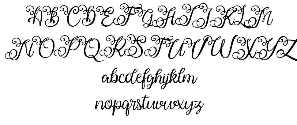 Ballita Script písmo