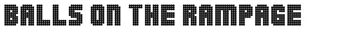 Balls on the Rampage font