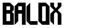 Balox font