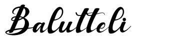 Balutteli font