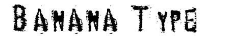 Banana Type font