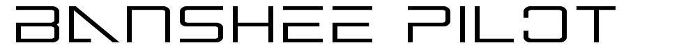 Banshee Pilot font