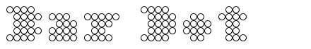 Bar Dot font
