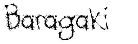 Baragaki font