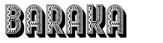 Baraka フォント