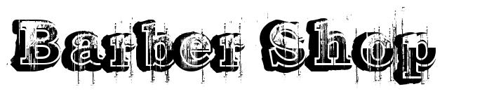 Barber Shop 字形