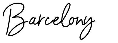 Barcelony шрифт