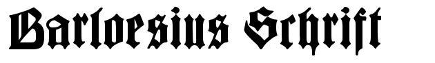 Barloesius Schrift police