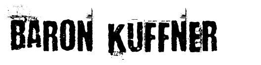 Baron Kuffner 字形