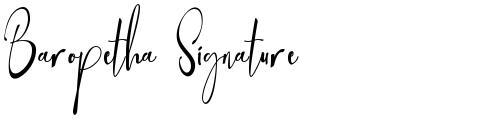 Baropetha Signature