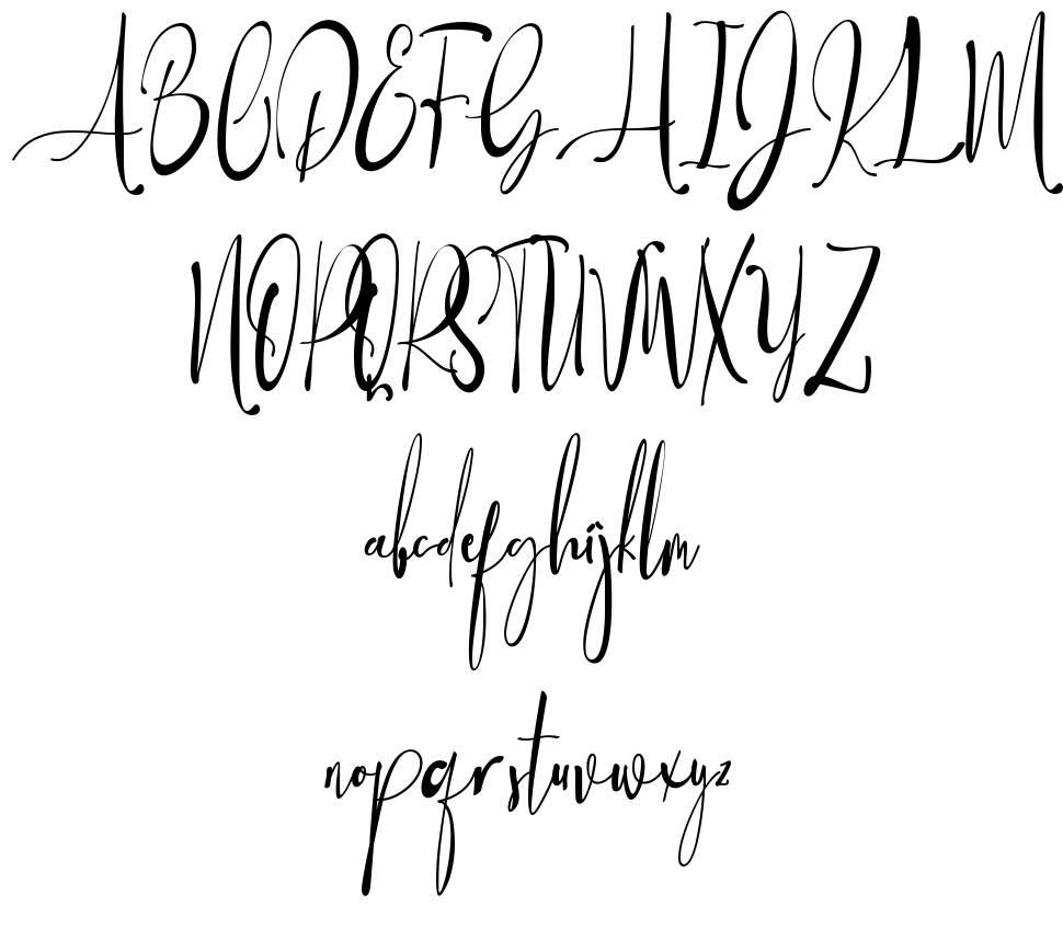 Baropetha Signature schriftart