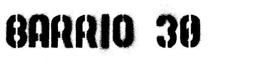 Barrio 30 字形