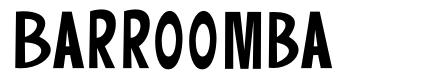Barroomba font