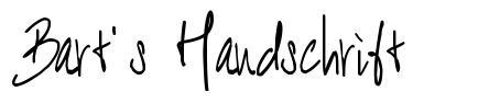 Bart's Handschrift font