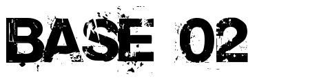 Base 02 font