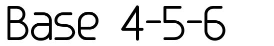 Base 4-5-6 font