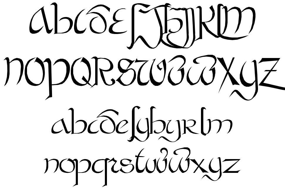 Bastarda font