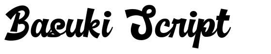 Basuki Script fonte