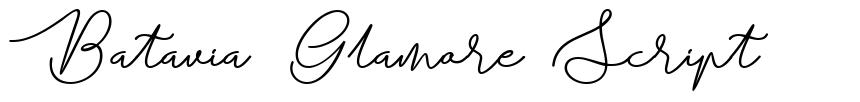 Batavia Glamore Script font