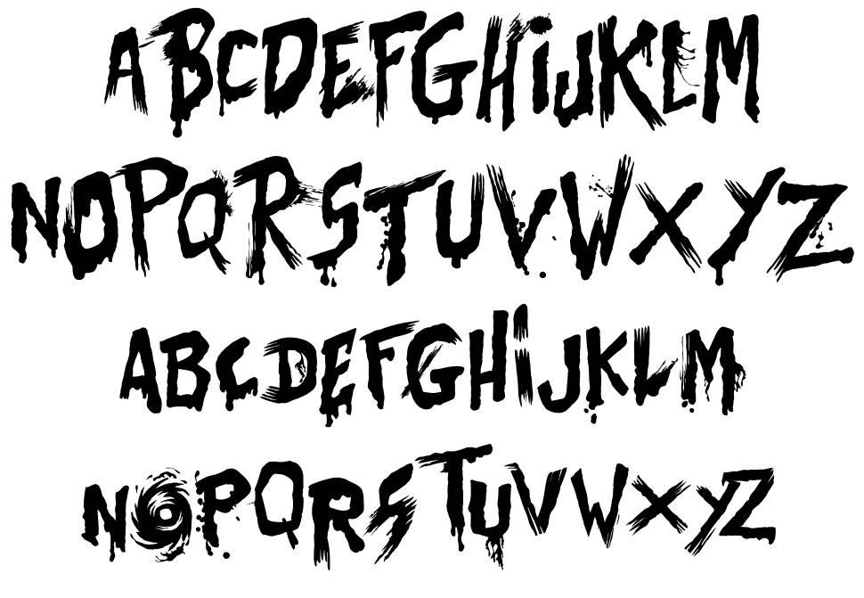 Bates Shower font
