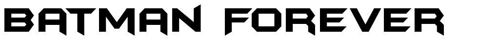 Batman Forever шрифт