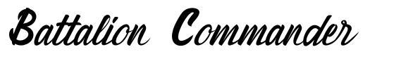 Battalion Commander font