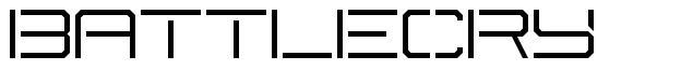 Battlecry font