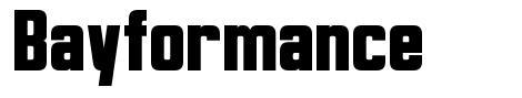 Bayformance font